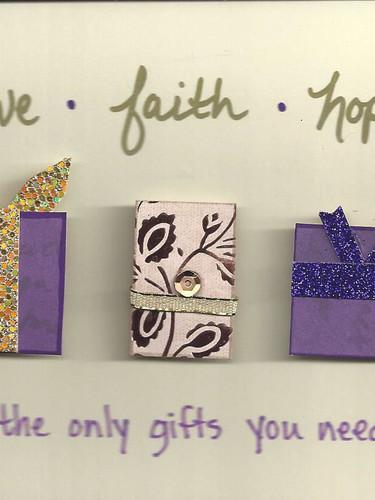 Love, Faith, Hope Card