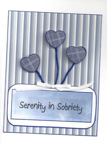 Serenity in Sobriety Card