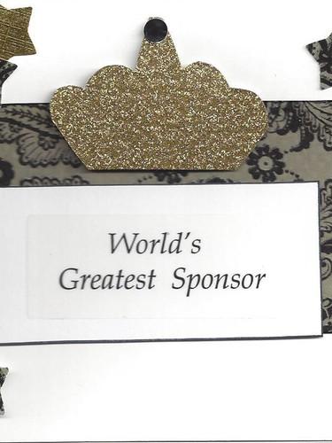 World's Greatest Sponsor Card