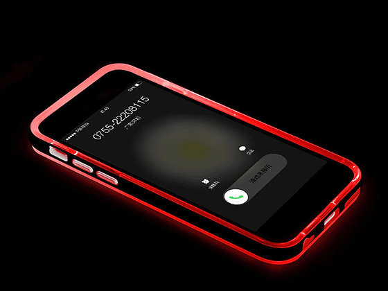 Funda luminosa iphone 6 plus roja
