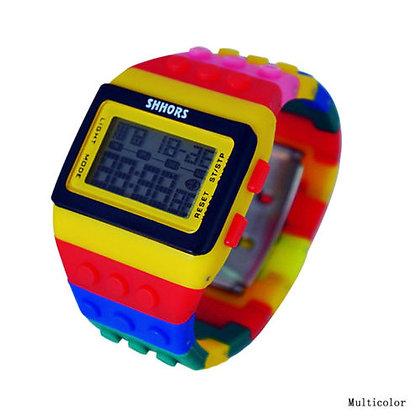 Reloj digital bloques