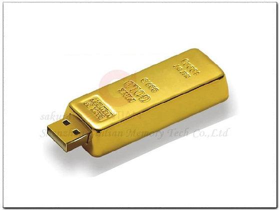Memoria usb 8gb lingote de oro