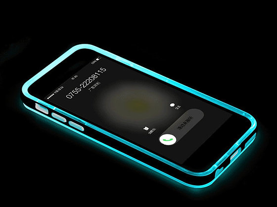 Funda luminosa iphone 6 azul