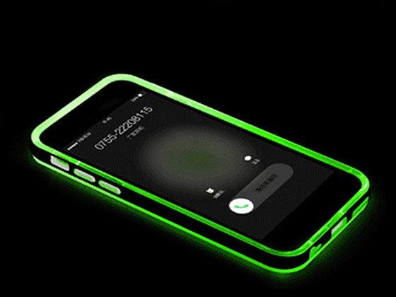 Funda luminosa iphone 6 plus verde