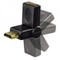 Adaptador HDMI Macho a HDMI Hembra con Rótula 270g