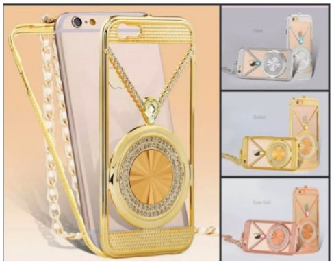 Funda luxury iphone 6 plus colgante