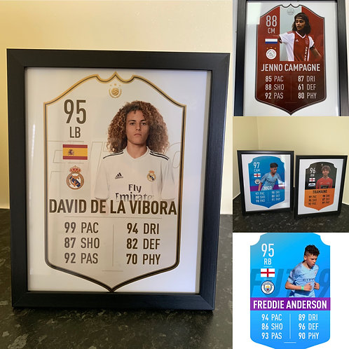 Personalised Fifa card with frame