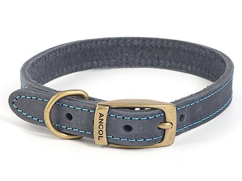Timberwolf Blue Leather Collar Large