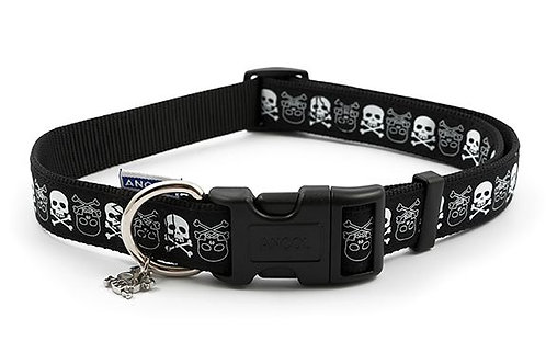 Skull Collar Black Large