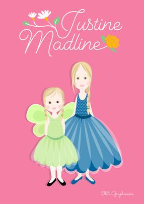 "Portrait sur mesure ""Justine et Madline"""