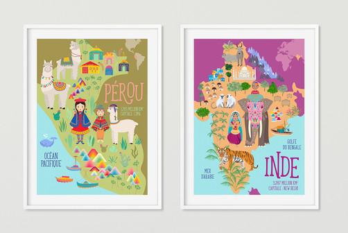 """Collection Affiche """"Et si on partait"""" Disponible dans ma boutique en ligne :"""