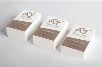 Création logo et carte de visite ABF expertise
