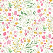 Motif liberty Oiseaux & fleurs