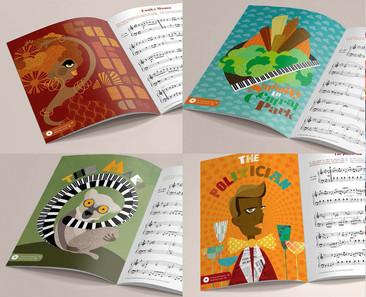 """Extrait des illustrations pages intérieur """"Little Blues hands"""""""