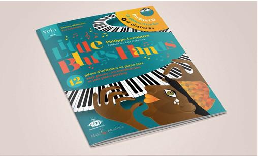 """Illustration couverture """"Little Blues Hands"""""""