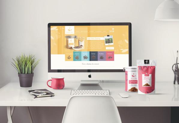 Projet de webdesign Douceur Thé