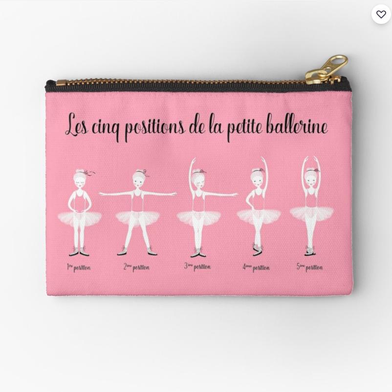"""Trousse """"Les 5 positions de la petite Ballerine"""""""