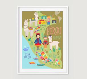 """Affiche """"Et si on partait au Pérou"""""""