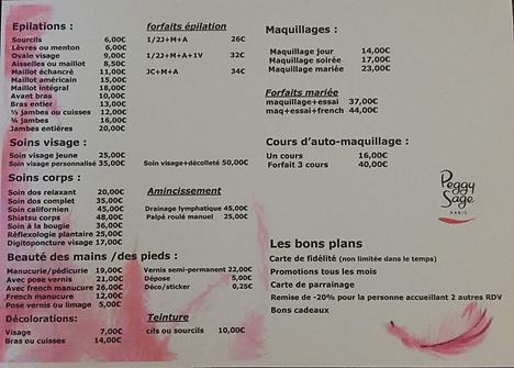 Tarifs Dôme & Cils Beauté