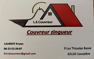 Carte de visite L.E.COUVREUR, membre d'Horizon Courpière