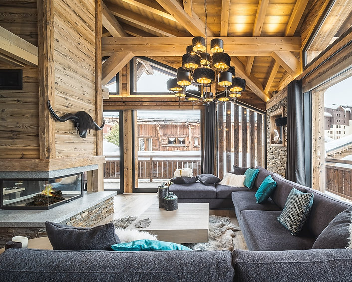 Grand salon Chalet Arolla Tignes