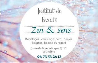 Institut de beauté Zen & Sens, membre d'Horizon Courpière