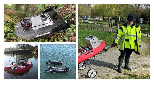 Planche et support motorisé pour ADCP