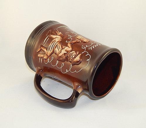 Керамическая пивная кружка Банная 0,7 литра