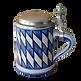 Немецкая пивная кружка с крышкой