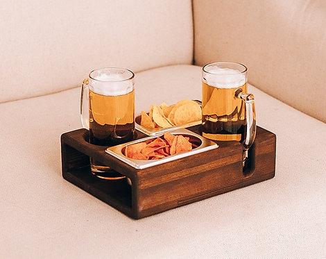 Подставка поднос для пива и закусок
