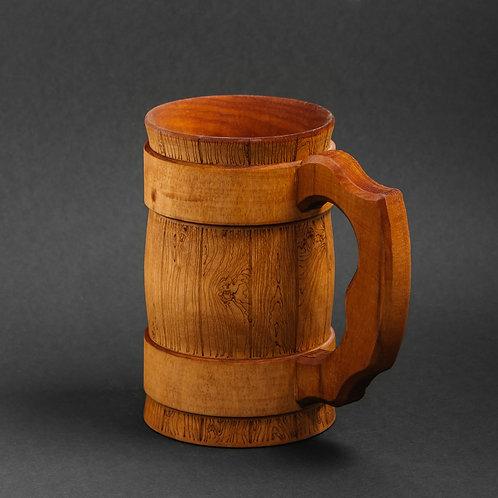 Деревянная пивная кружка Тёмная 0,5 литра