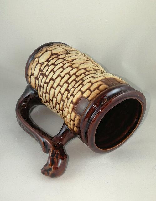 Керамическая пивная кружка Крепость шамот 1 литр