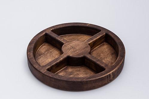 Купить круглую деревянную менажницу