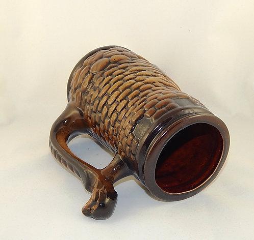 Керамическая пивная кружка Крепость 1 литр