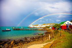 Dubble rainbows over Saldanha