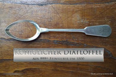 Esslöffel Antik königlicher Diätlöffel_2