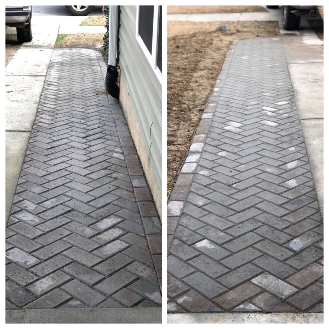 Widening of Driveway with Pavers