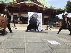 神田明神 こうじょう雅之武人画展 SOUL OF JAPAN - 廻起