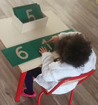 Aire de mathématique, Atelier Montessori, Les chiffres rugueux