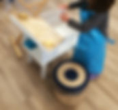 Aire de vie pratique atelier Montessori, laver le linge