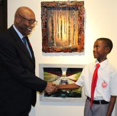 The Governor General congratulates Coburn Sands