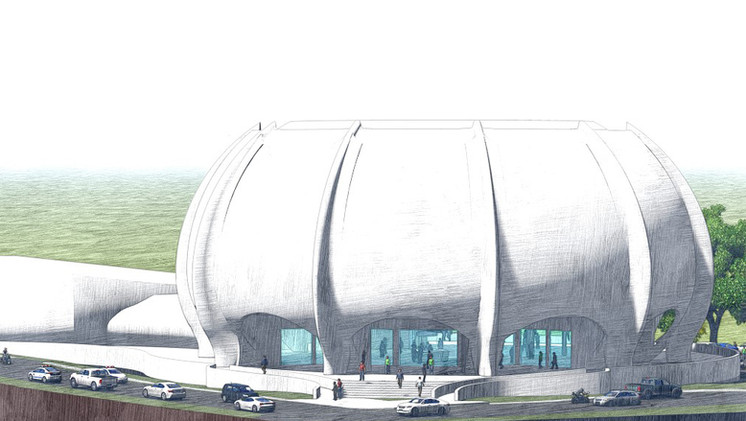 Rendering new Central Bank building
