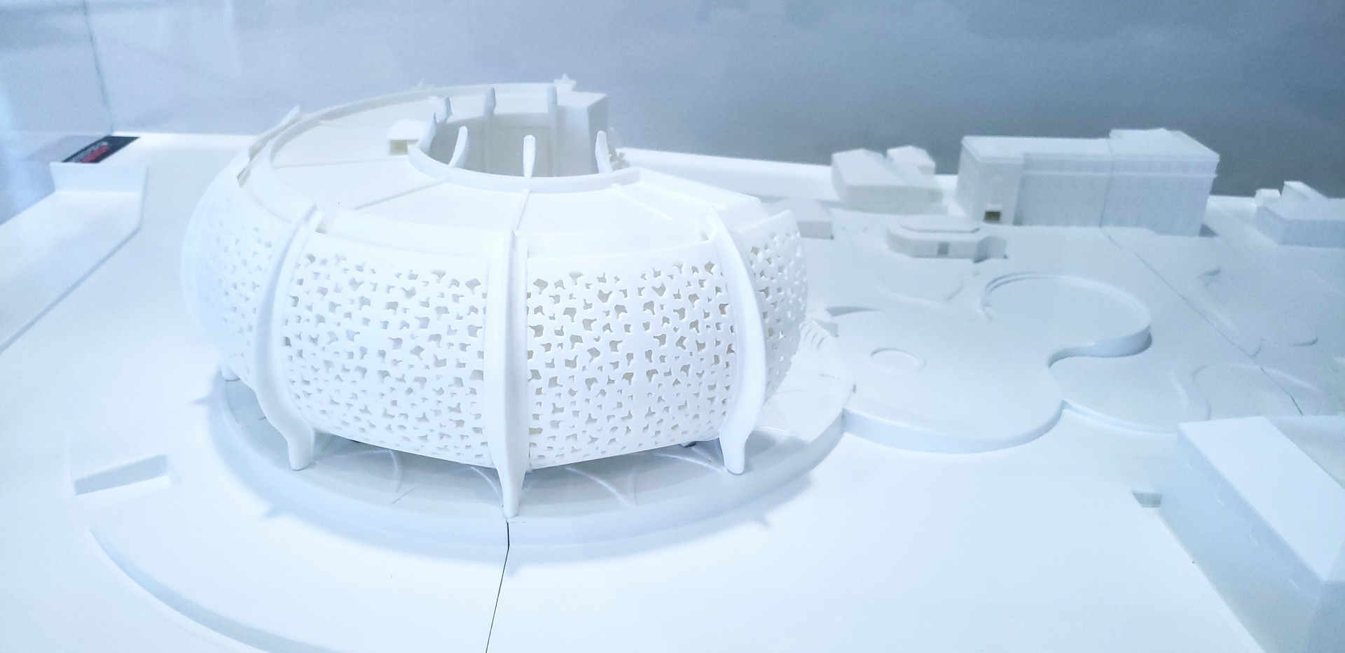 Model of new Central Bank building