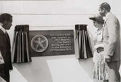 Queen Elizabeth II and Governor T.B. Don