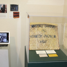 J.F. Kennedy Straw briefcase