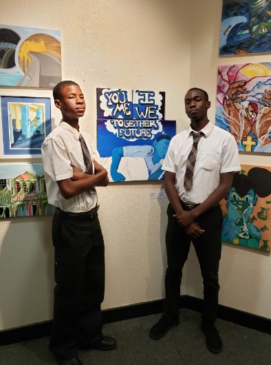 Rodgeno Albury and Whitline Ti-Paul from North Eleuthera High School
