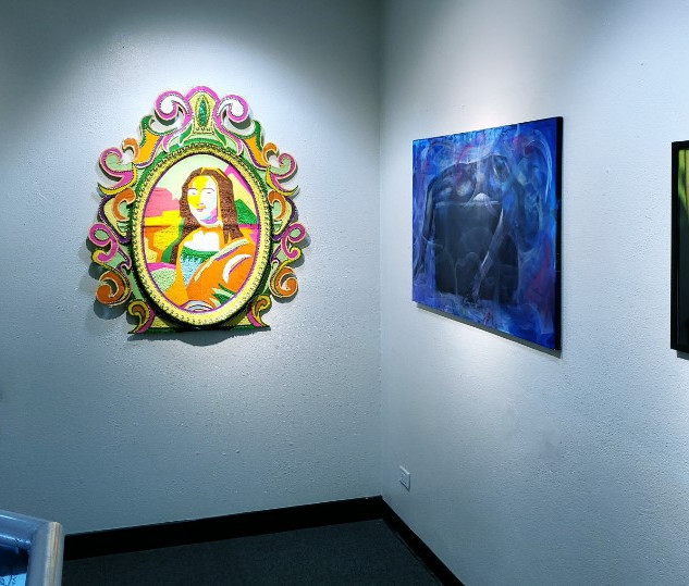 Exhibition View (Devin Levar Adams, Thomas Haiston, Daniel Hanna)