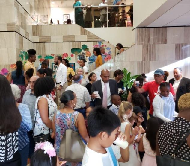 Crowded Foyer