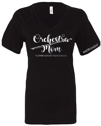 Orchestra Mom Ladies Unisex Fit (Black with Silver)