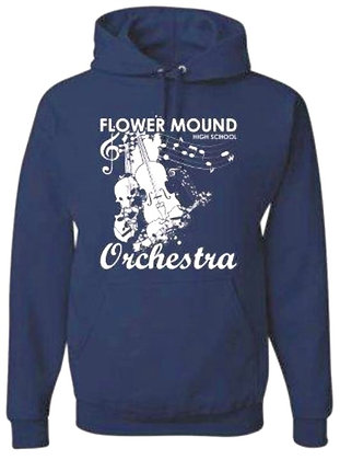 Hoodie (Heather Navy with White)